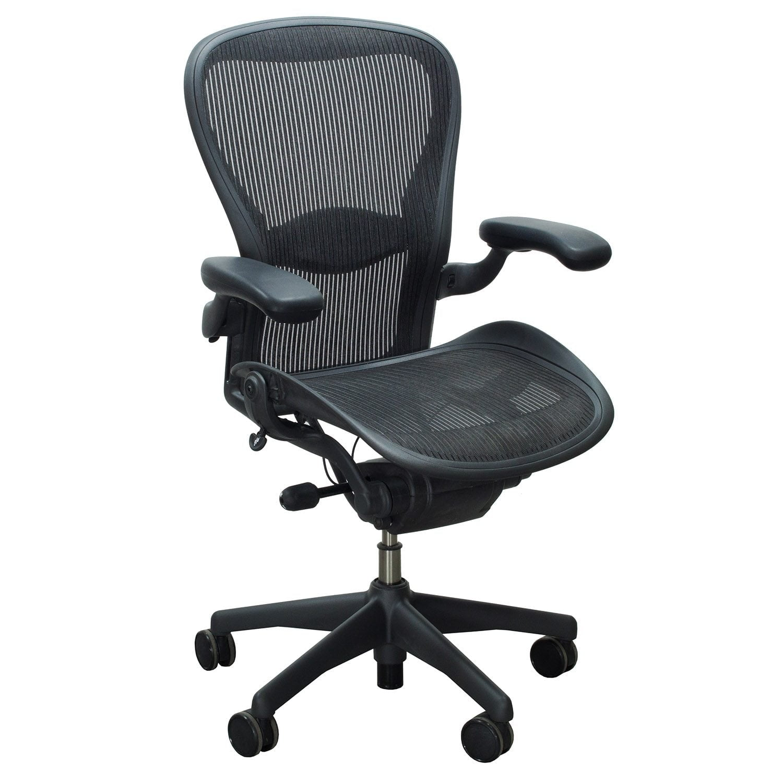Herman Miller Aeron Used Size C Full Function Task Chair, Carbon