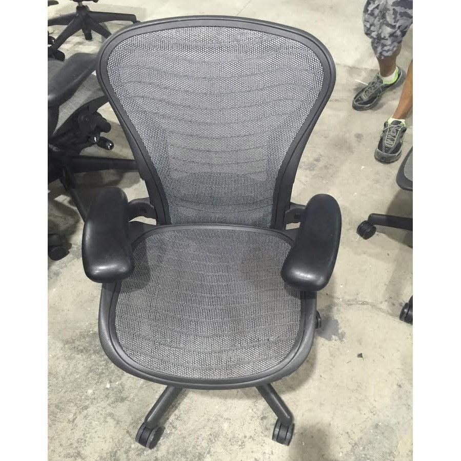 Herman Miller Aeron Used Size A Task Chair, Platinum Wave