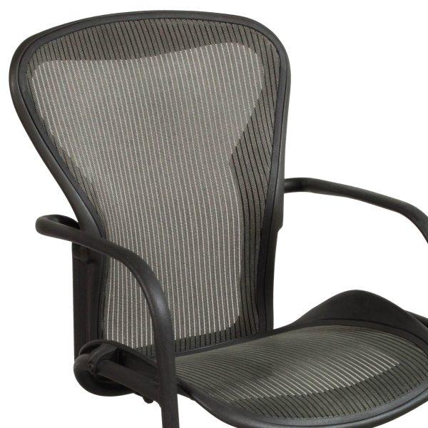 Herman Miller Aeron Used Side Chair, Nickel