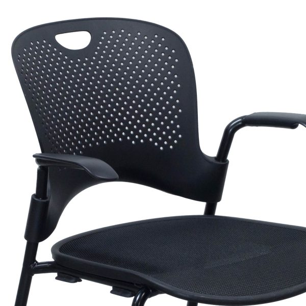 Herman Miller Caper Used Mobile Stack Chair, Black