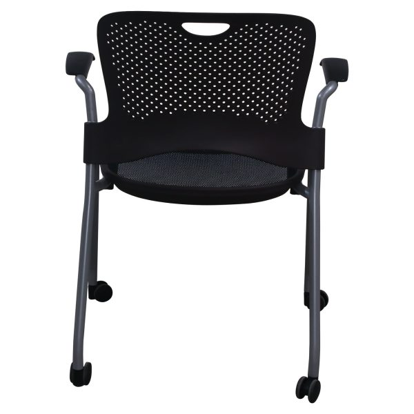 Herman Miller Caper Used Mobile Stack Chair, Brown