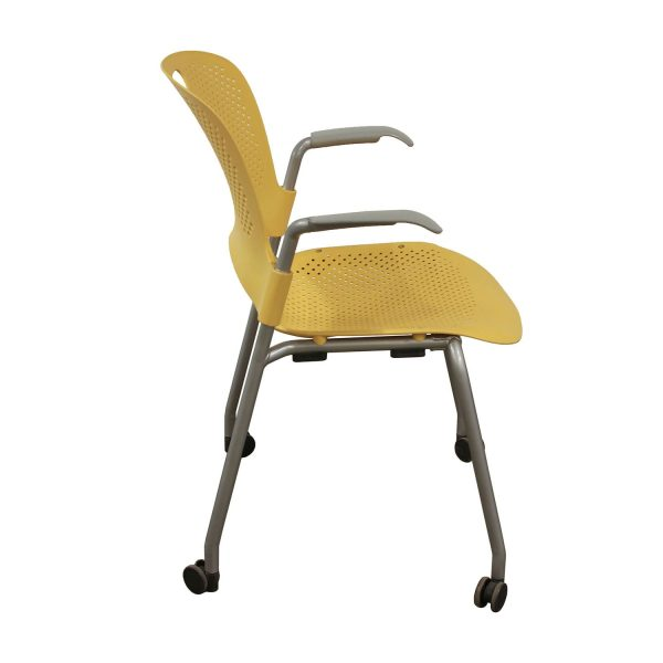 Herman Miller Caper Used Mobile Stack Chair, Yellow