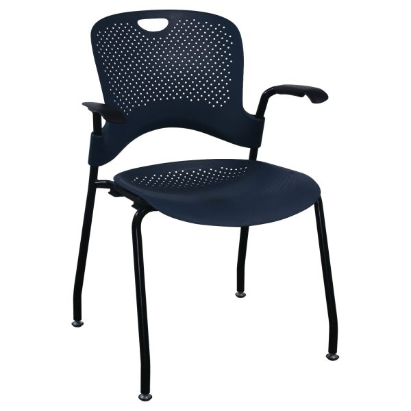 Herman Miller Caper Used Stack Chair, Blue