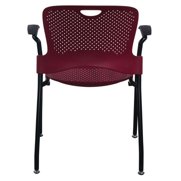 Herman Miller Caper Used Stack Chair, Red