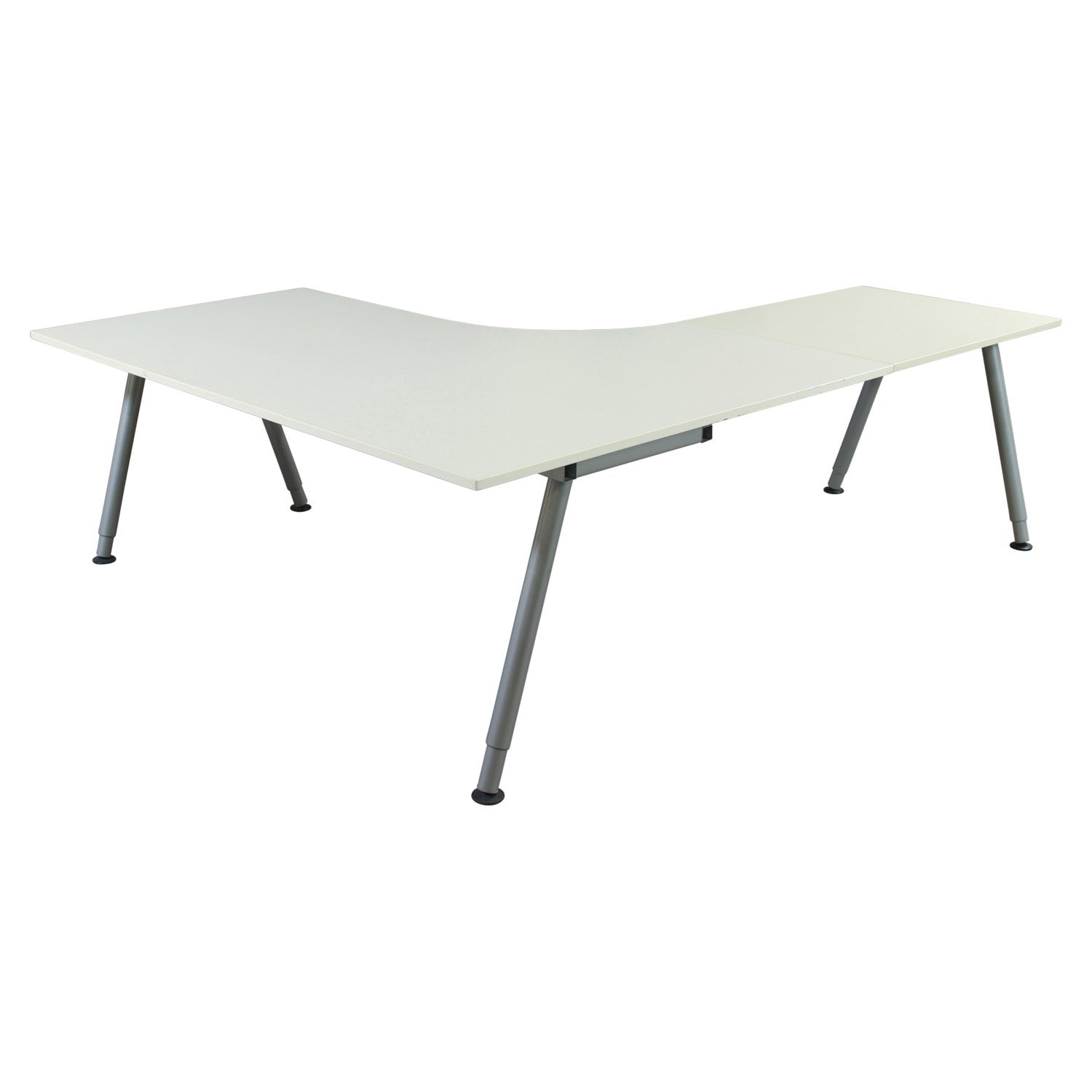 Ikea Galant Used 47 25x63 31 5x24 Inch L Shape Adjustable Height Table White National Office Interiors And Liquidators
