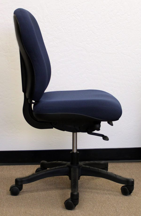 Knoll RPM Used Ergonomic High Back Armless Task Chair, Blue