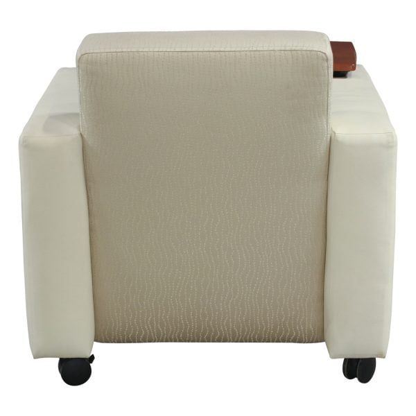 Integra Elite Used Reception Cherry Tablet Chair, White