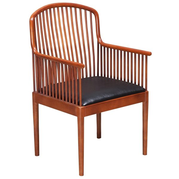 Knoll Exeter Used Vintage Wood Side Chair, Cherry