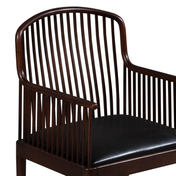 Knoll Exeter Used Vintage Wood Side Chair, Espresso