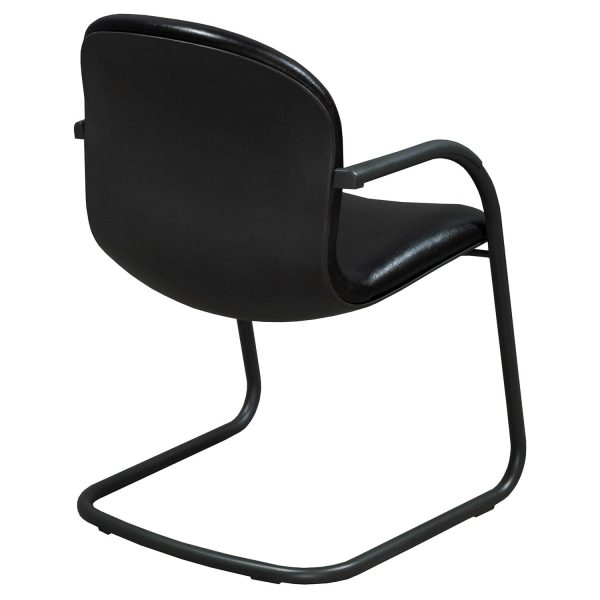 Knoll RPM Used Leather Side Chair, Black