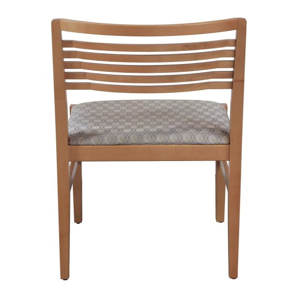 Knoll Ricchio Maple Wood Armless Side Chair, Gray Circle Pattern