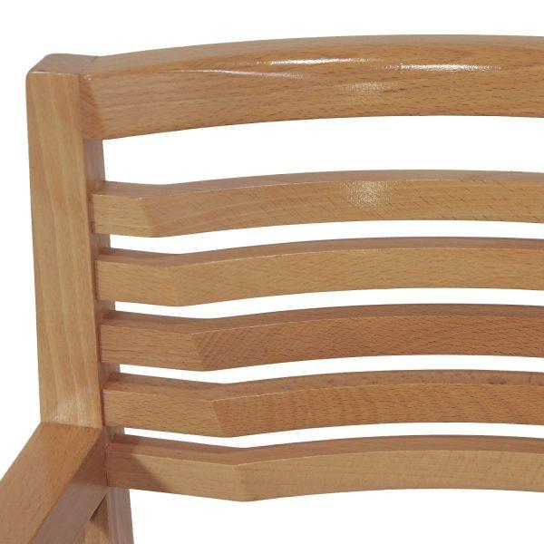 Knoll Ricchio Maple Wood Side Chair, Black Line Pattern