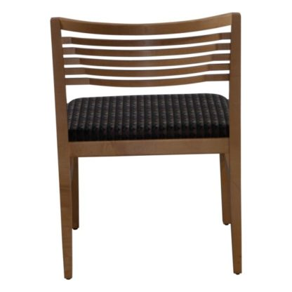 Knoll Ricchio Used Armless Wood Side Chair, Multicolored Pattern