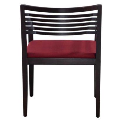 Knoll Ricchio Used Burnt Walnut Wood Side Chair, Red