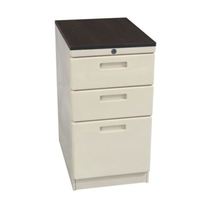 Knoll Used Box Box File Pedestal with Laminate Gray Top, Putty