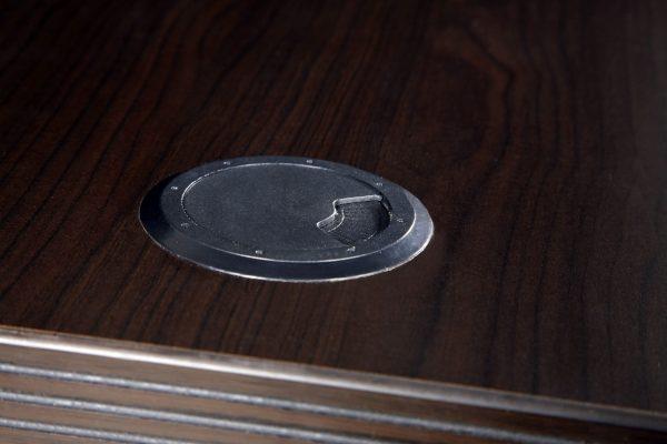 0901 New Mahogany Laminate L Shape Reception Desk