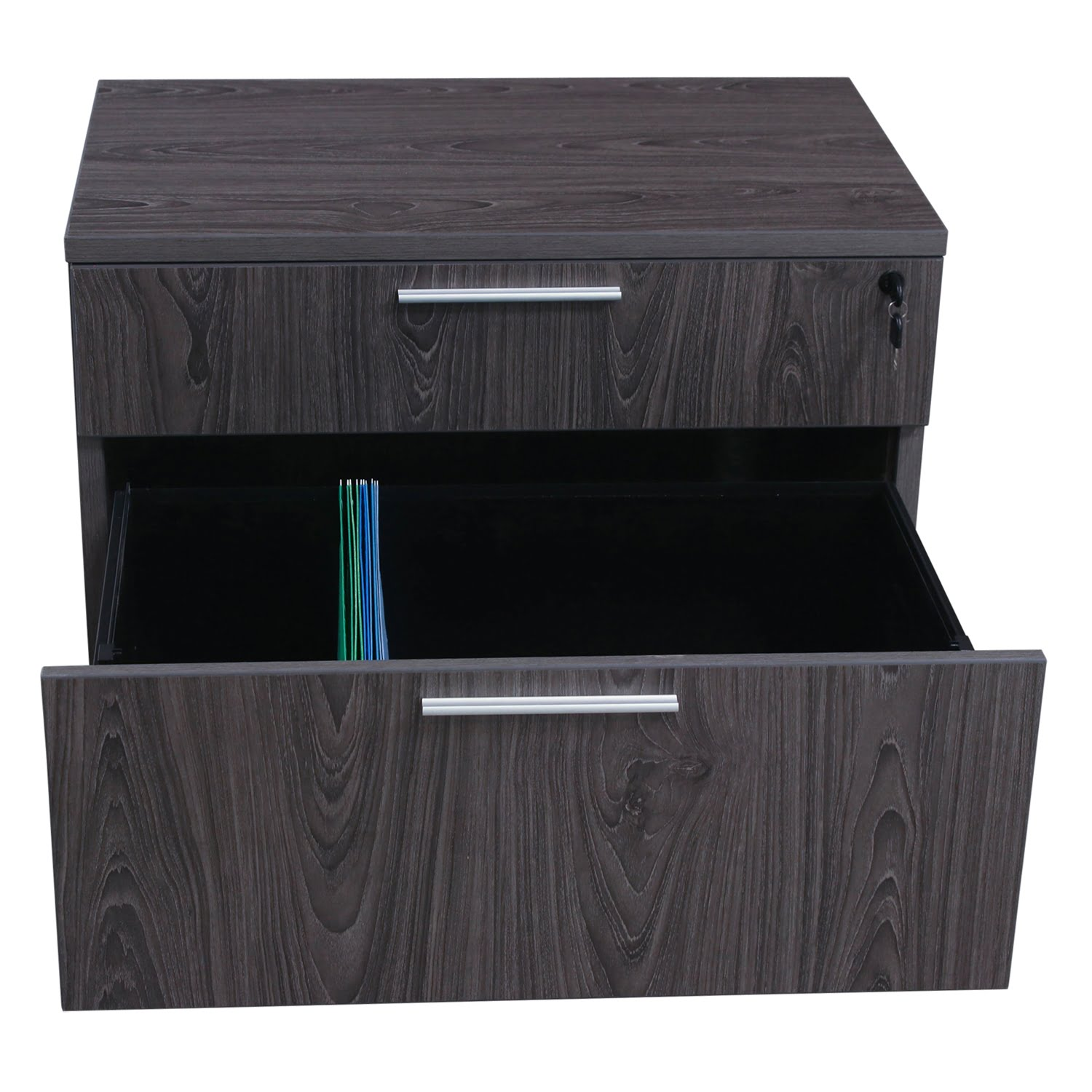 Manhattan 2 Drawer 32 in Lateral File, Cashmere Gray