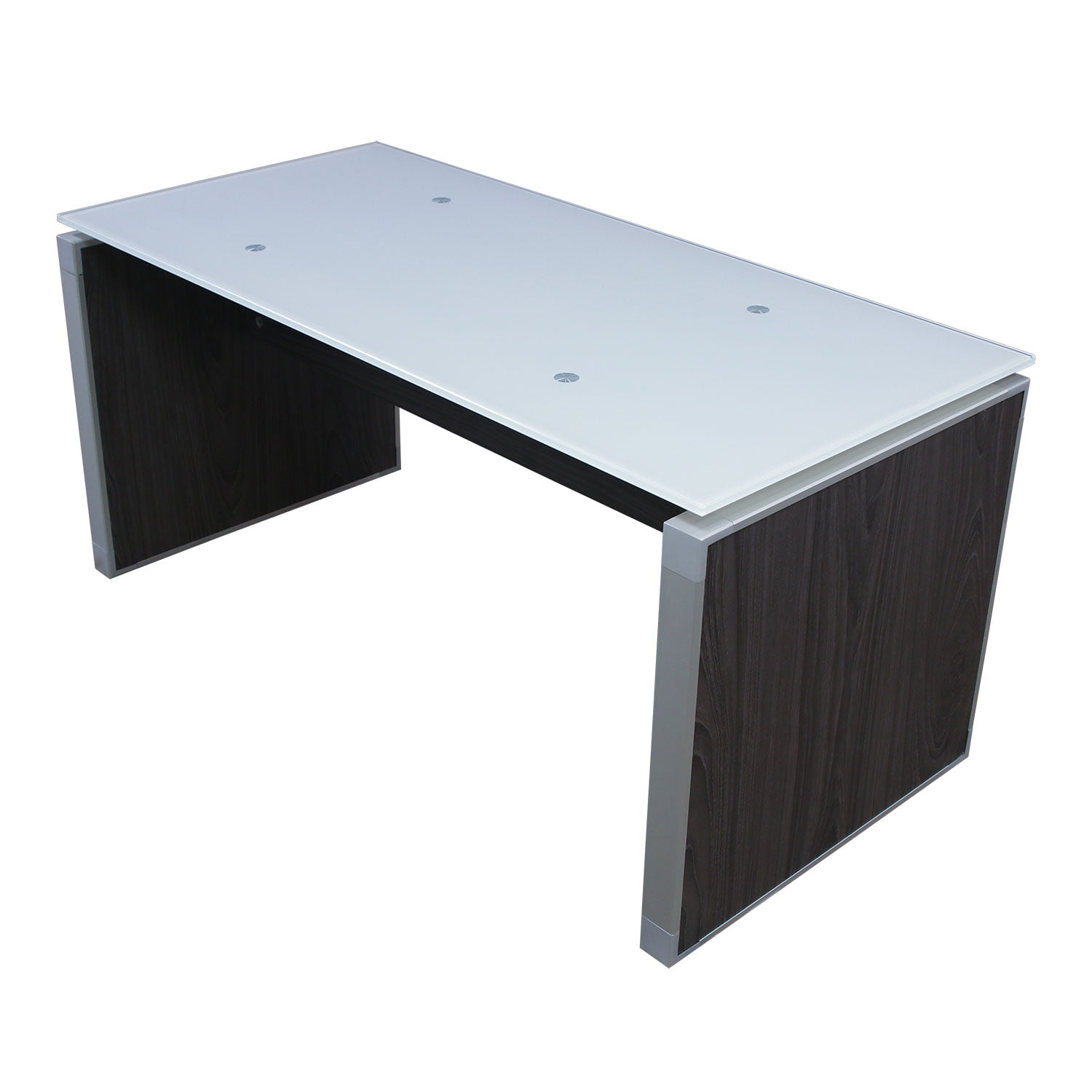 Manhattan 20x42 Glass Top Coffee Table, Cashmere Gray
