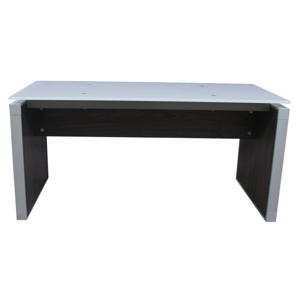 Manhattan 24x48 Glass Top Coffee Table, Cashmere Gray