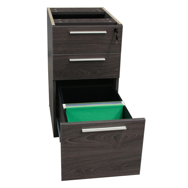 Manhattan Laminate Pedestal Box/Box/File Add-on, Cashmere Gray