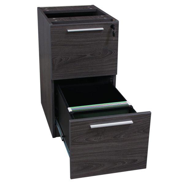 Manhattan Laminate Pedestal File/File Add-on, Cashmere Gray