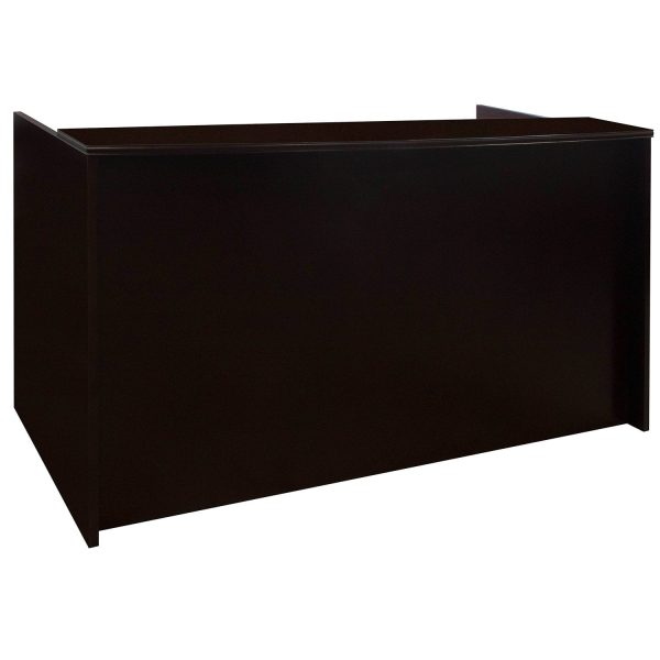 Merlot Wood Double Pedestal Reception Desk, Mahogany