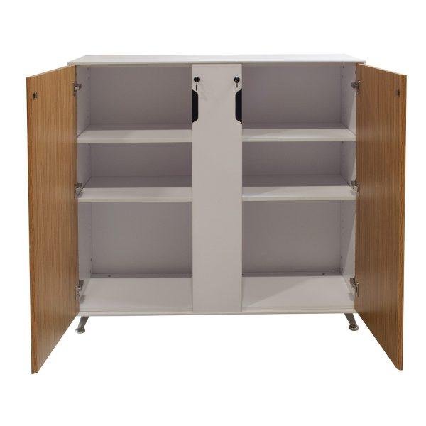 Morgan 48 in Melamine Storage Cabinet, Zebra and White