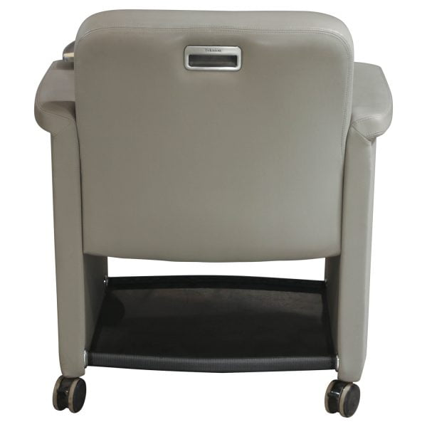 Teknion Belize Used Mobile Chair with Tablet, Gray Leather