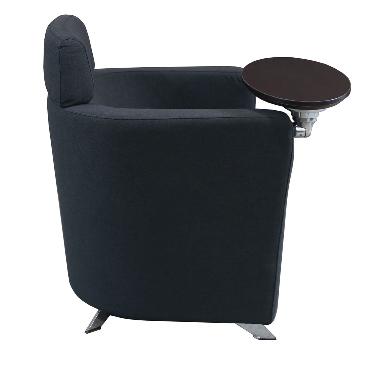 Voyage by goSIT Single Seat Fabric Chair with Espresso Tablet, Charcoal