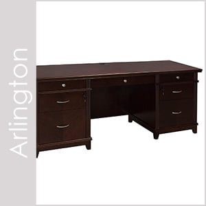 Arlington Wood Veneer Desk Set Series