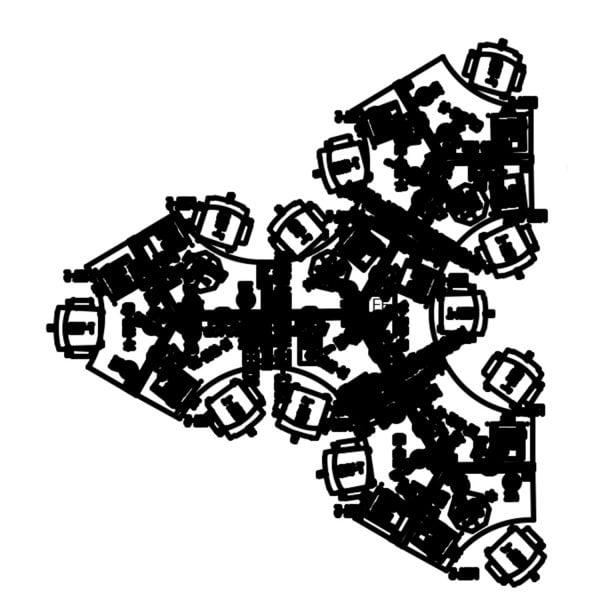 Haworth Compose Used Collaborative Pod of 12