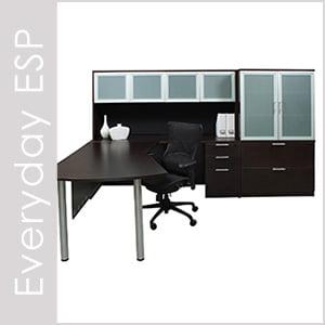 Everyday Espresso Laminate Desk Set Series