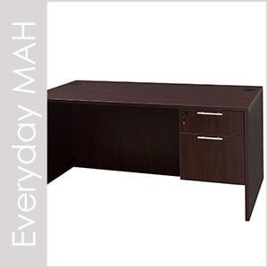 Everyday Mahogany Laminate Desk Set Series