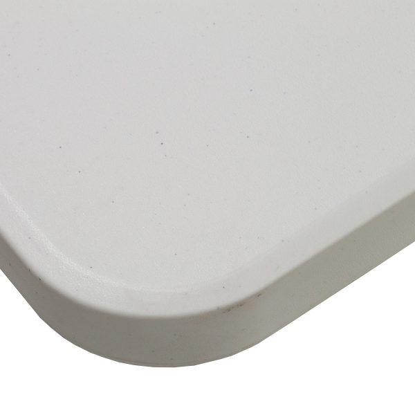 goSIT 72 Inch Hard Plastic Folding Table, Granite White