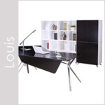 Louis Laminate & Wood Veneer Desk Set Series