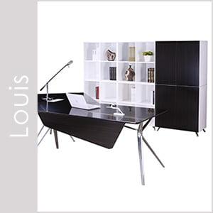 Louis Laminate & Wood Veneer Desk Set Series