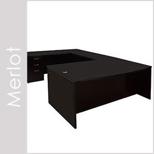 Merlot Wood Veneer Desk Set Series