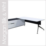 Morgan Black and White Desk Sets