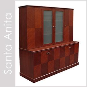 Santa Anita Wood Veneer Desk Set Series