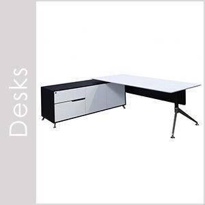 Morgan Black & White Desks