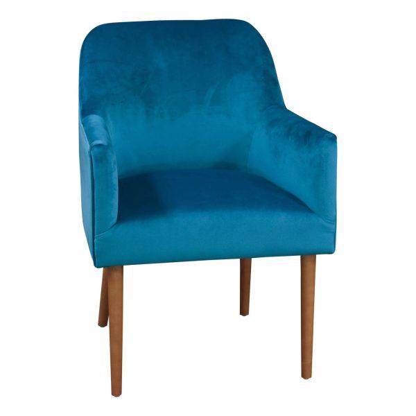 Markus Turquoise Velvet Armchair