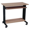 Used Mobile Table Desk w Keyboard Tray, Maple