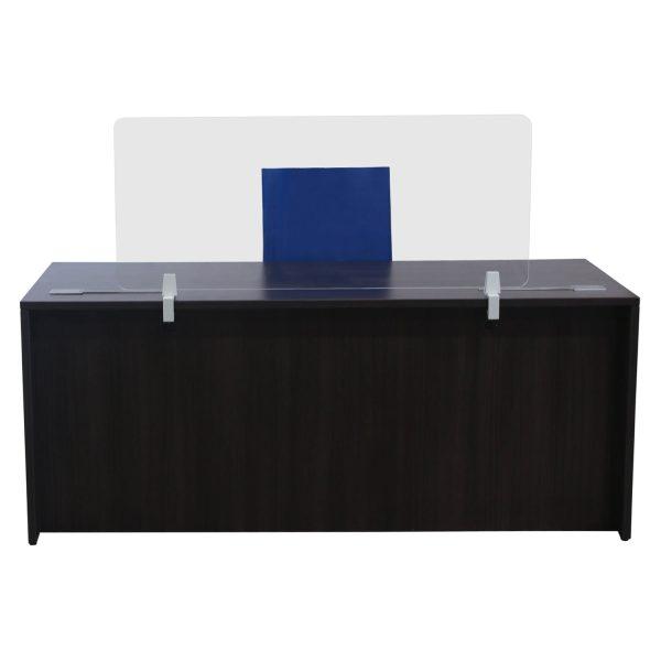 47x19 goSIT Acrylic Desk Screen System, Clear