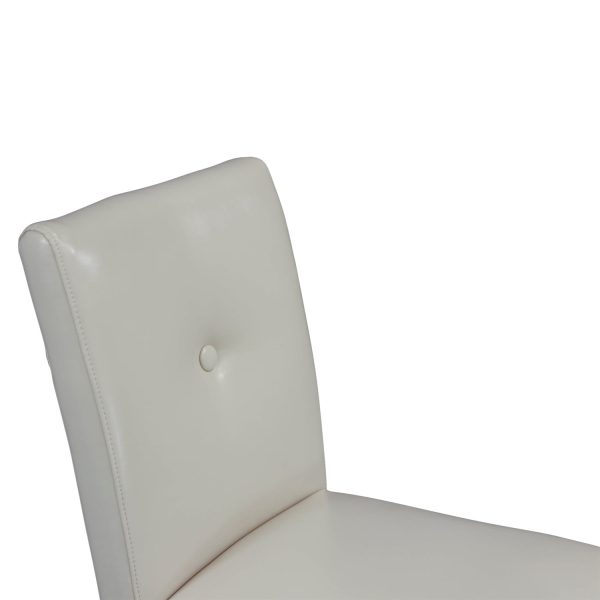 Marshall Used Faux Leather Counter Stool, Ivory