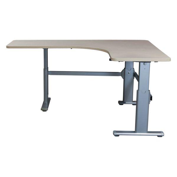 Steelcase L-Shape Used Manual Height Desk Left Return, Blonde Maple