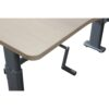 Steelcase L-Shape Used Manual Height Desk Right Return, Blonde Maple