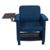 Teknion Belize Used Mobile Chair with Right Tablet, Sapphire Blue