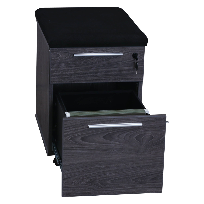 Manhattan Laminate Mobile Pedestal Box/File, Cashmere Gray