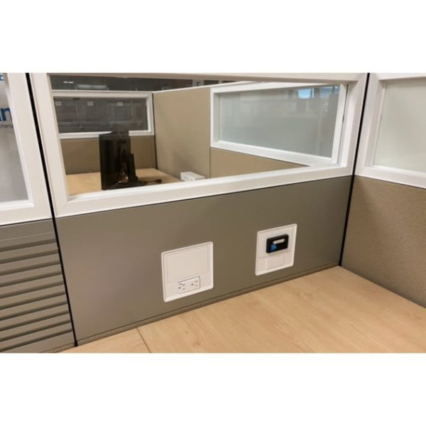Steelcase Answer 6x6 Used Cubicle with Glass, Taupe - Sold in Pods