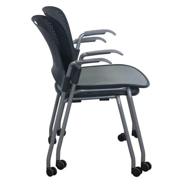 Herman Miller Caper Used Mobile Stack Chair, Gray
